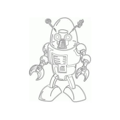 Cool Robot Free DXF File