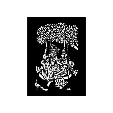 Floral Design Swing Free DXF File
