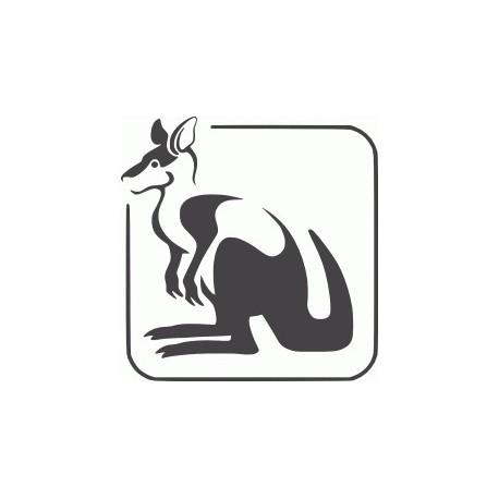 Kangaroo Logo Free DXF File