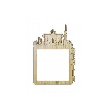Laser Cut Photo Frame Berlin Free DXF File