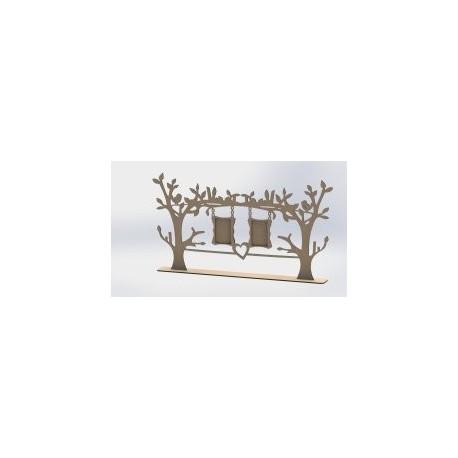 Laser Cut Tree Frame Free DXF File