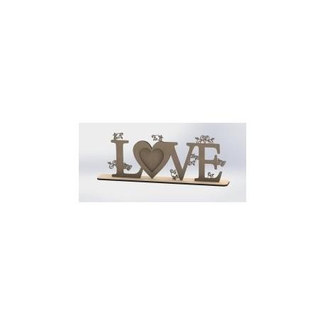 Love Heart Laser Cut Free DXF File