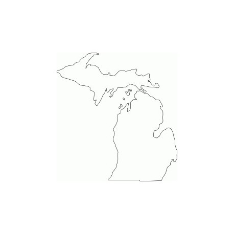 Michigan Outline Free DXF File