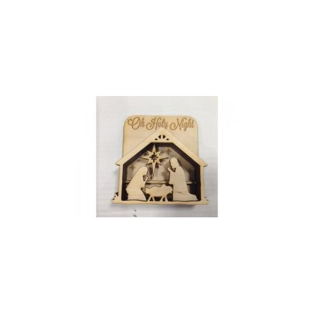Nativity Shadow Box Free DXF File