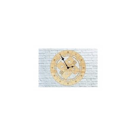 Poker Wall Clock Free DXF File