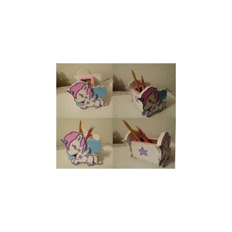Unicorn Desk Organizer Free DXF File