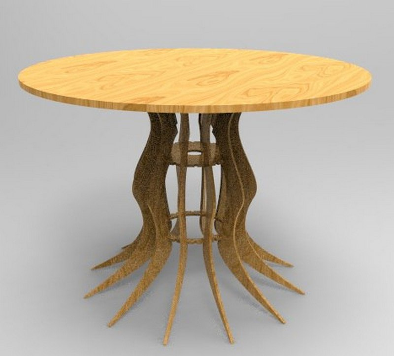 Laser Cutting Rustic Outdoor Table File Free CDR Vectors Art