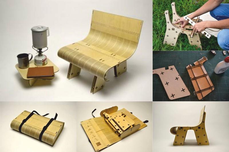 Mini Chair Laser Cut File Free CDR Vectors Art