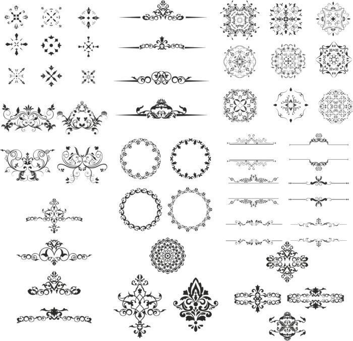 Ornament Design Kit File Free CDR Vectors Art