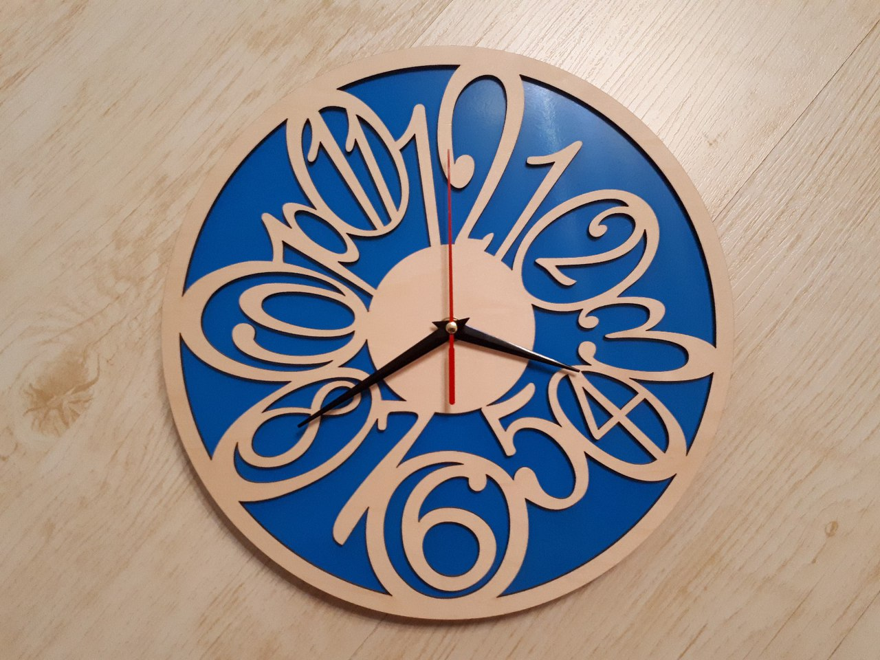 Plywood Clock Laser Cut File Free CDR Vectors Art