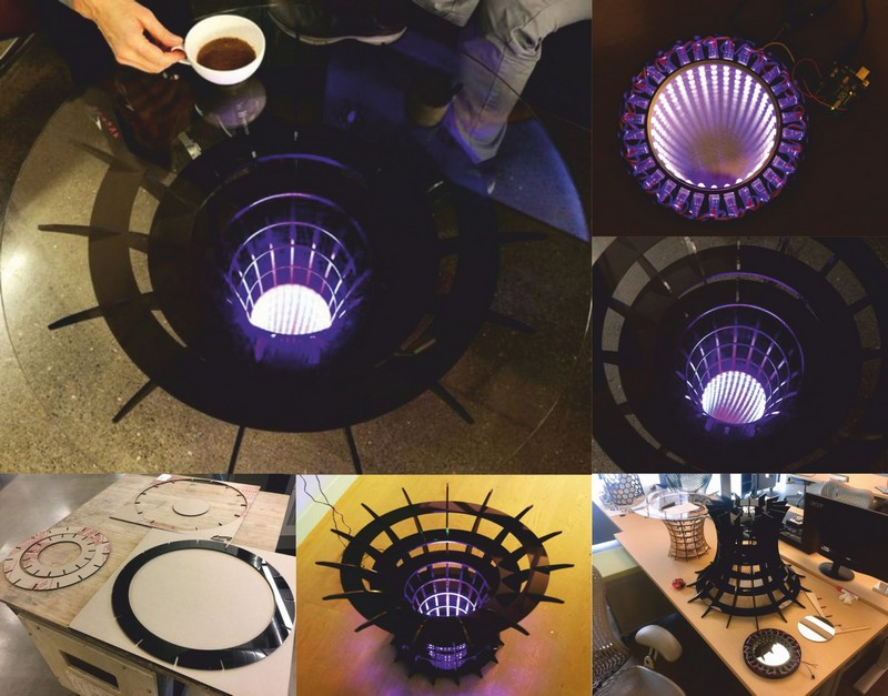 Round Coffee Table Laser Cut File Free CDR Vectors Art