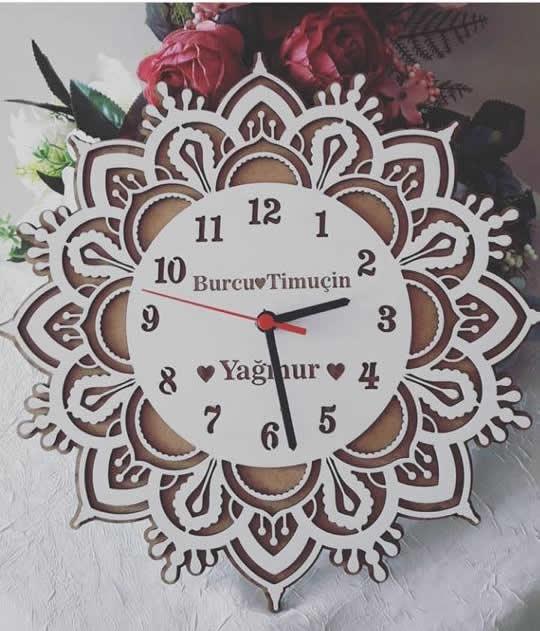 Wooden Laser Cut Clock File Free CDR Vectors Art