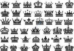 Carved Crowns Decorated Free CDR Vectors Art