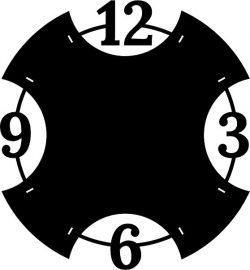 Cincinnati Clock For Laser Cut Plasma Free CDR Vectors Art