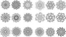 Circular Ornament Set For Laser Cut Cnc Free CDR Vectors Art