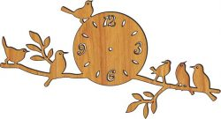 Clock On A Tree Branch Download For Laser Cut Plasma Free CDR Vectors Art