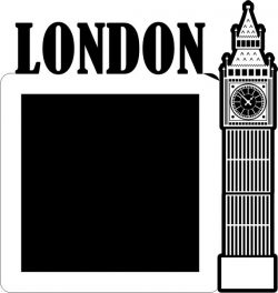 Clock Shaped Picture Frame In London England Free CDR Vectors Art