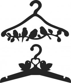 Clothes Hangers With Birds Download For Laser Cut Cnc Free CDR Vectors Art