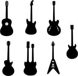 Collection Of Innovative Designs Of Guitar Models Free CDR Vectors Art