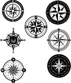 Collection Of Unique Compass Patterns Free CDR Vectors Art