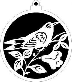 Decoration Ball With Ringlet Bird For Laser Cut Plasma Free CDR Vectors Art
