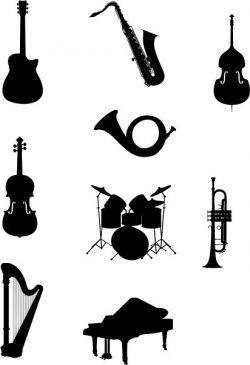 Design Of The Orchestra Instruments Free CDR Vectors Art