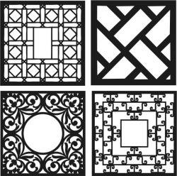 Design Template Square Decoration Download For Laser Cut Cnc Free CDR Vectors Art