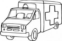 Drawing Of An Ambulance At A Hospital Free CDR Vectors Art