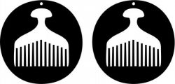 Earring Shaped Circular Design With An Ancient Comb Free CDR Vectors Art