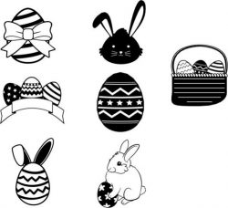 Egg And Rabbit Design Template For Easter Day Free CDR Vectors Art