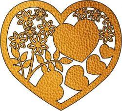 Flower Heart Download For Laser Free CDR Vectors Art