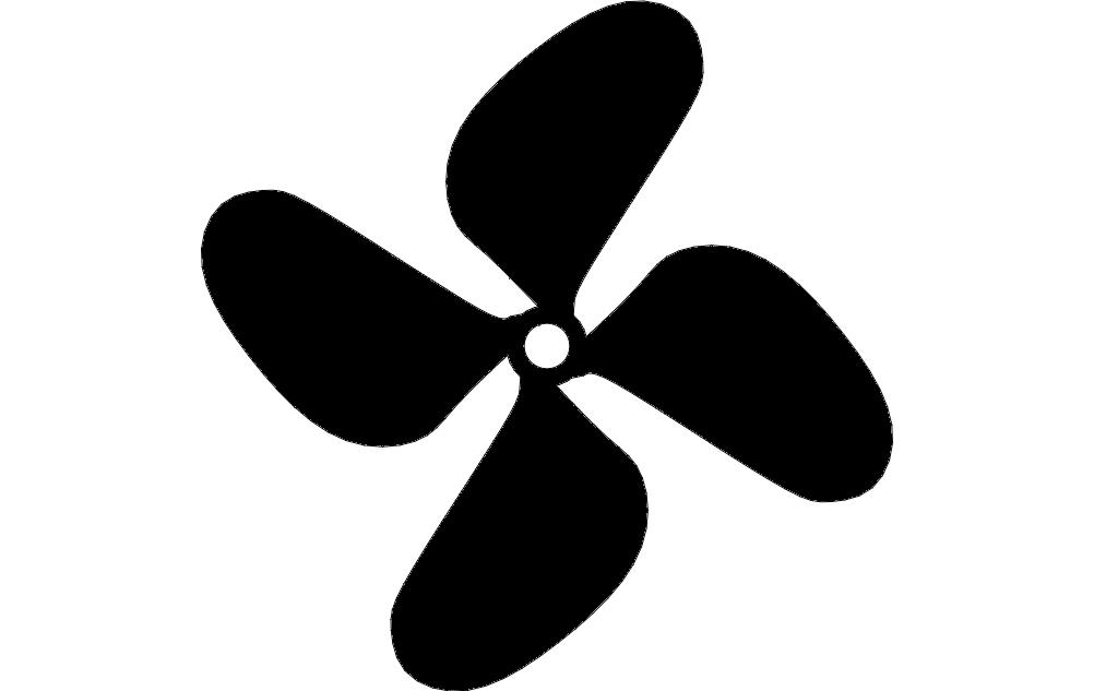 Boat Propeller Free DXF File