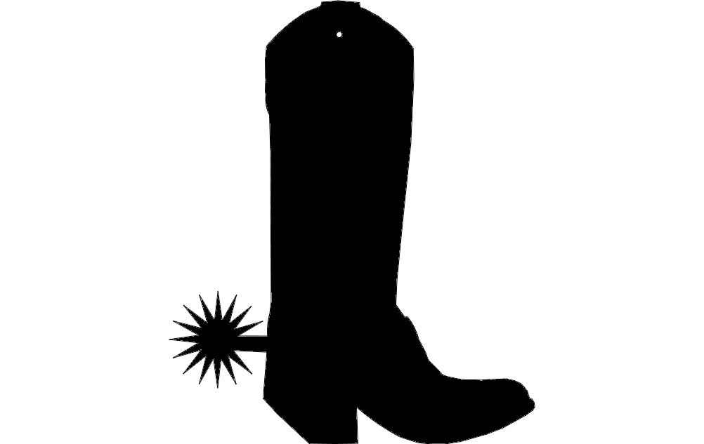 Boot Charm Free DXF File