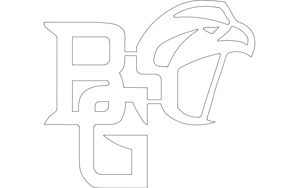 Bowling Green Falcons Logo Free DXF File