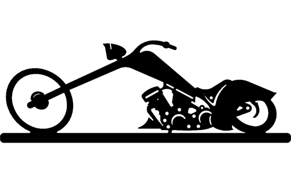 Chopper Bike Free DXF File
