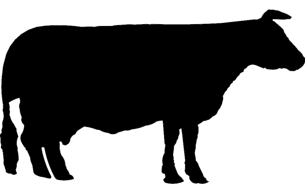 Cow Silhouette Free DXF File