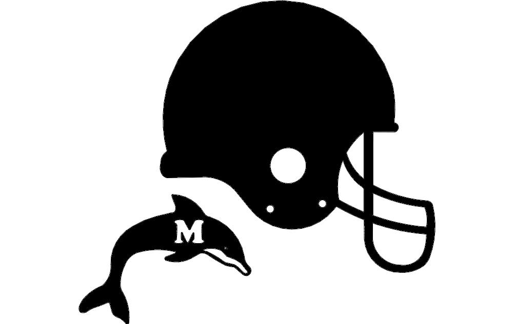 Dolphin Helmet 3d Free DXF File