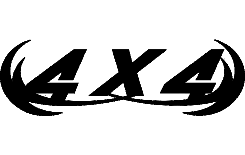 Four By Four Badge Free DXF File