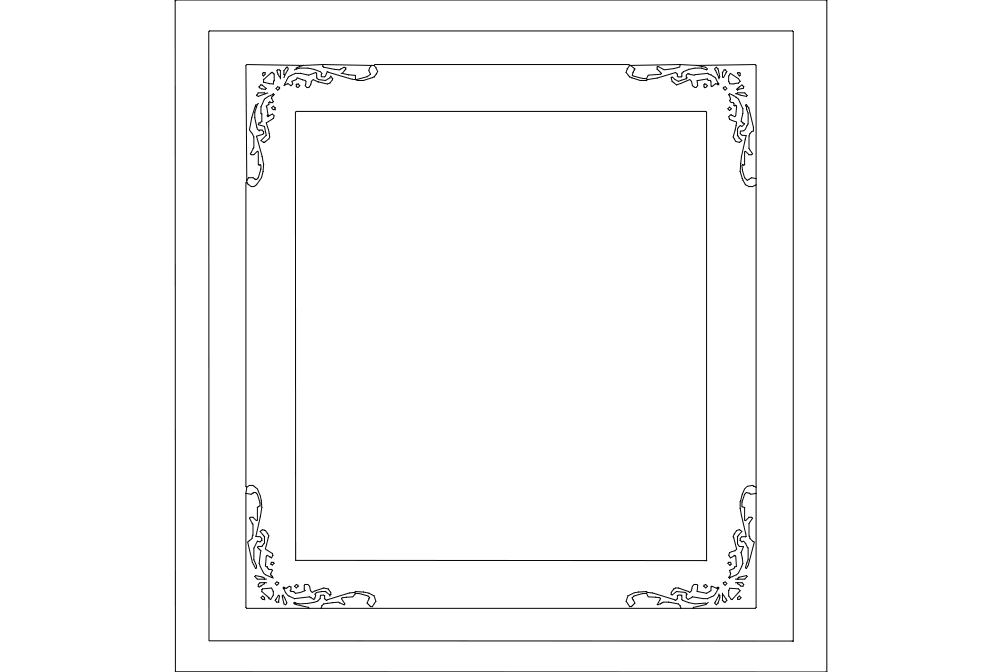 Frame Glass Free DXF File