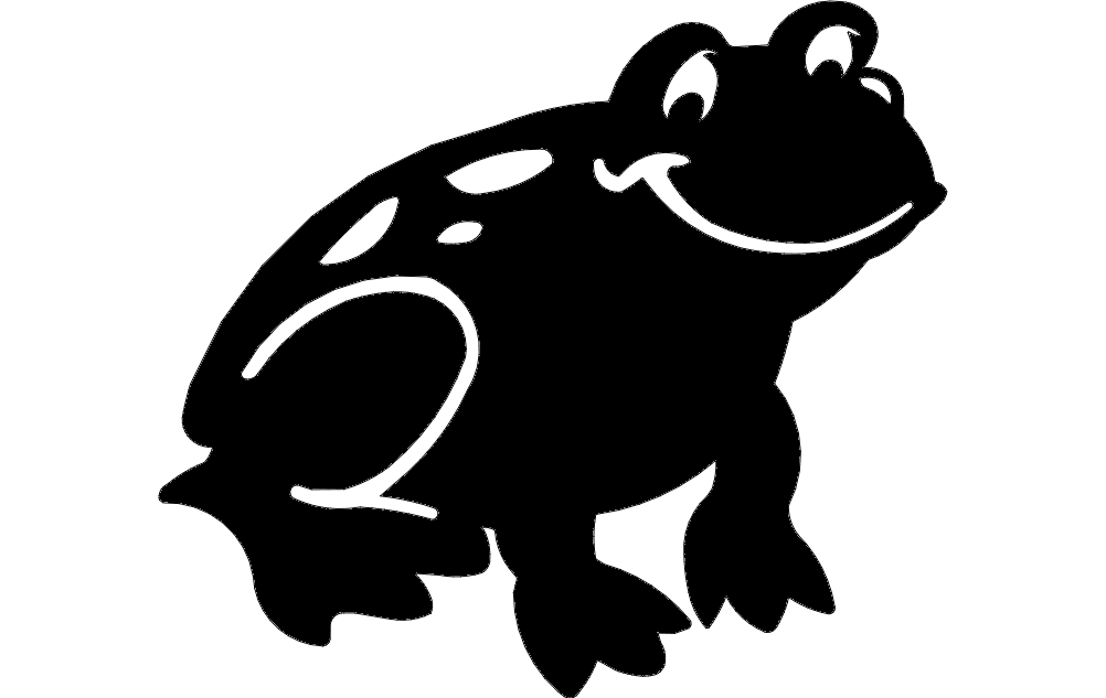 Frog Silhouette Free DXF File