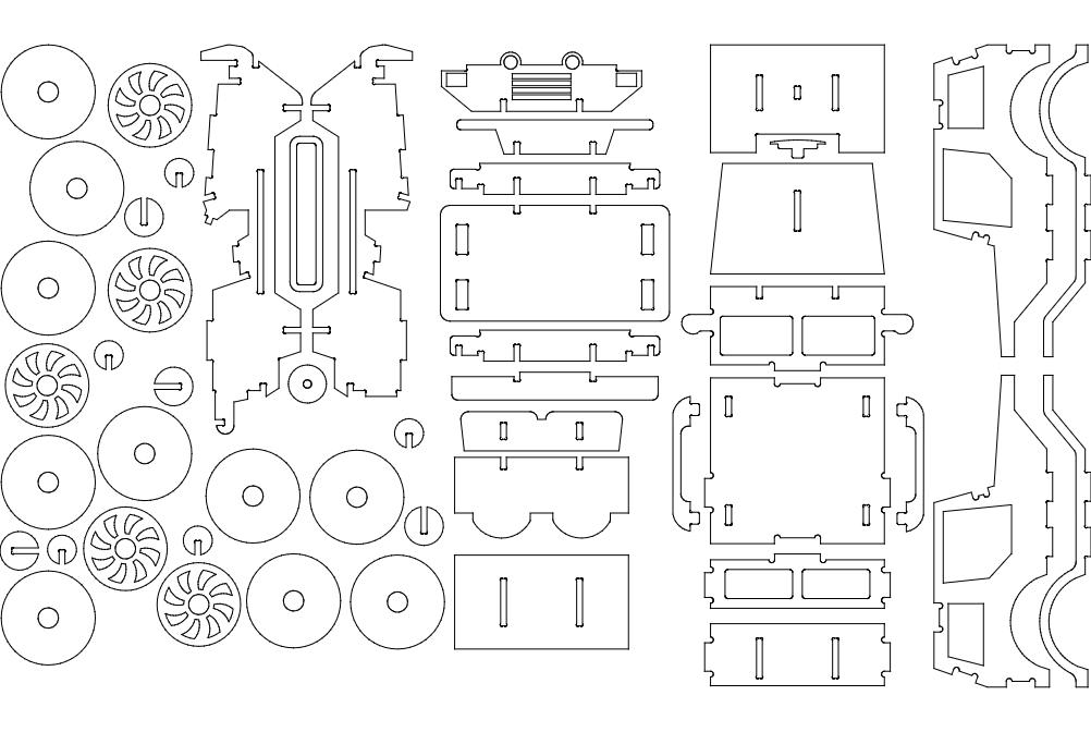 Jeep R 6 Mm Free DXF File