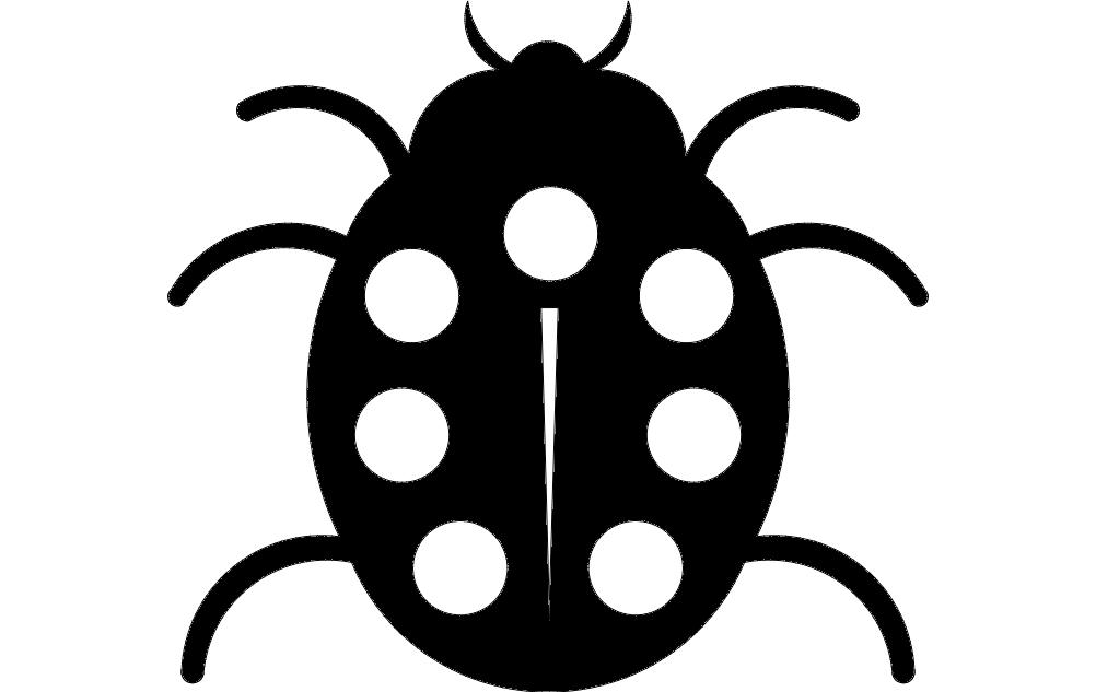 Ladybug Insect Animal Free DXF File