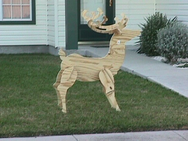 Laser Cut Wooden Deer Free DXF File