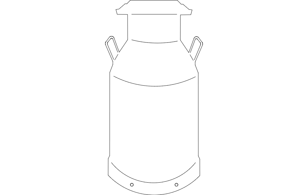 Milk Can Free DXF File