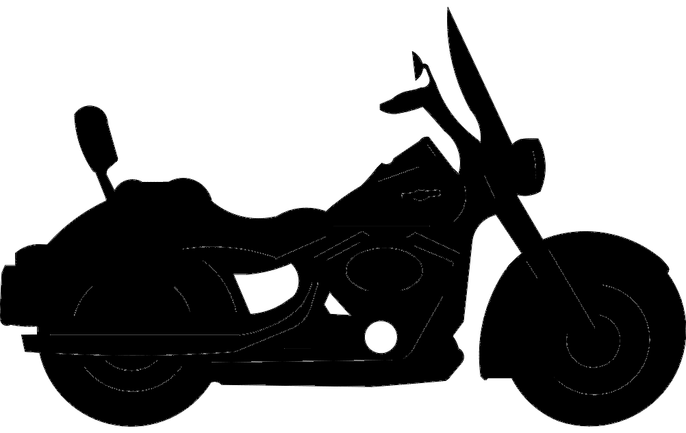 Motorcycle Silhouette Black Free DXF File