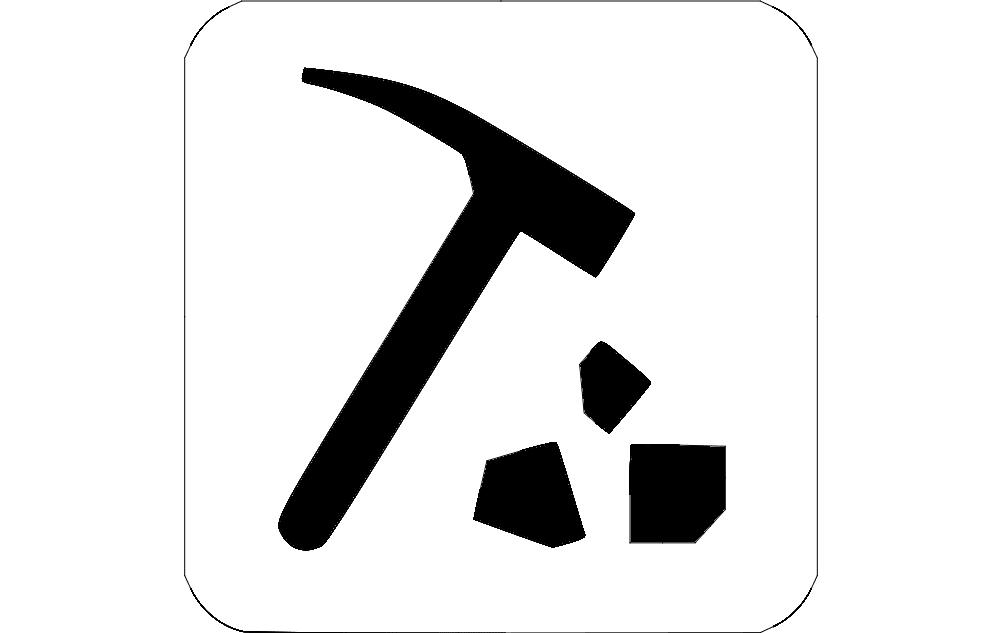 Pick Hammer Free DXF File