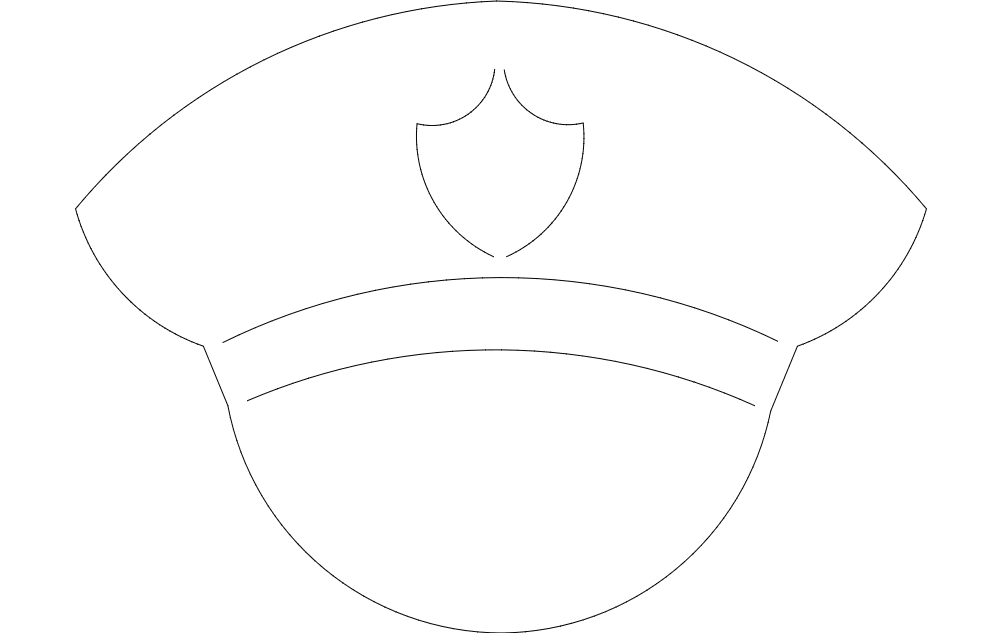 Police Hat Free DXF File