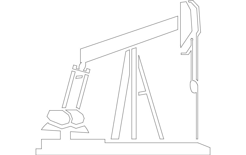Pump Jack Free DXF File