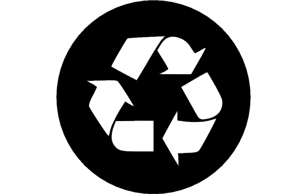 Recycle Sign Free DXF File