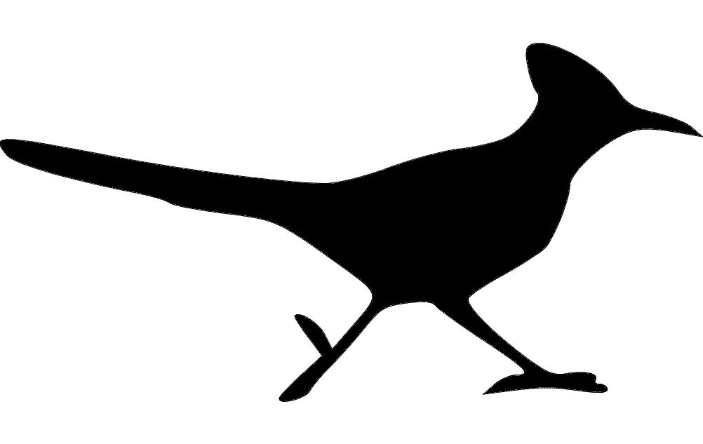 Roadrunner Bird Silhouette Free DXF File